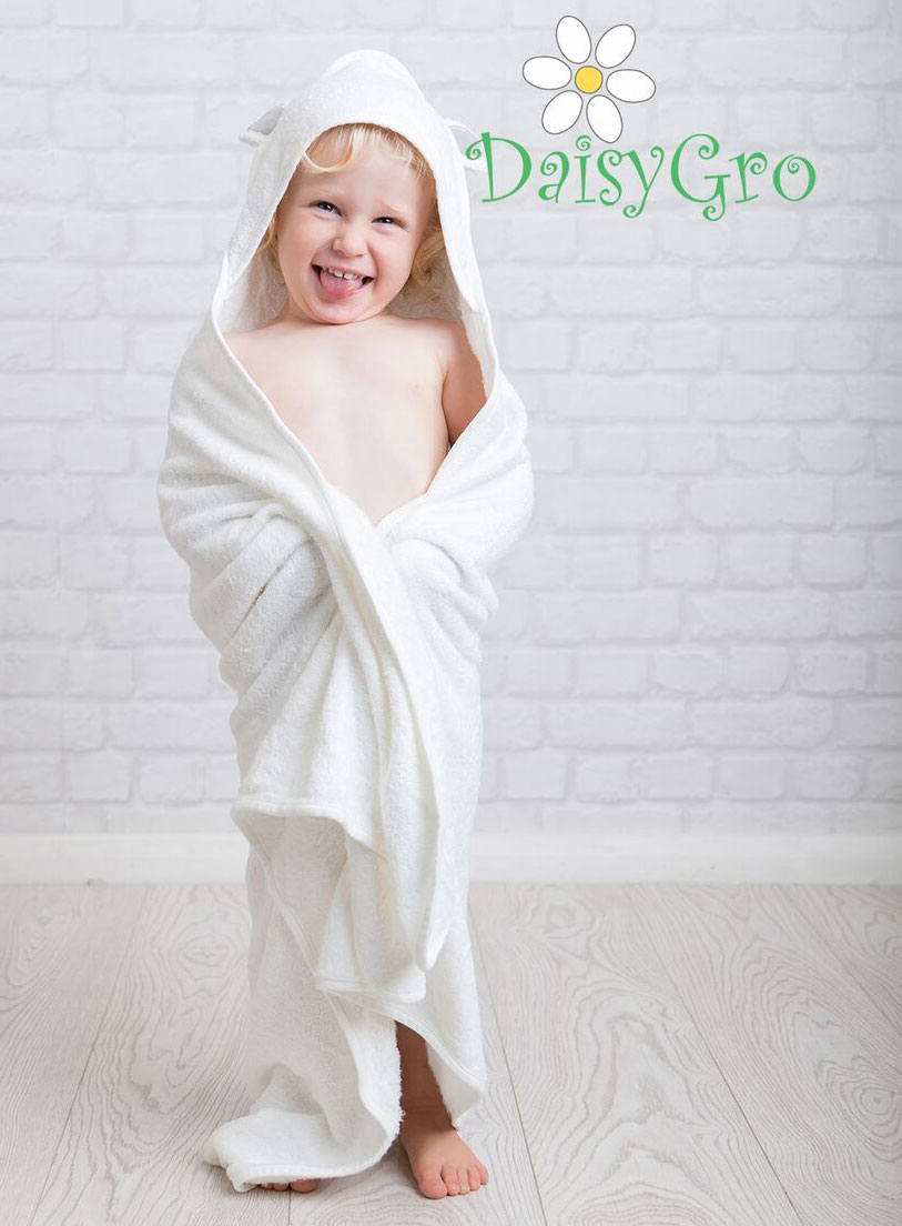 DaisyGro Bamboo Hooded Animal Towel for Babies and children