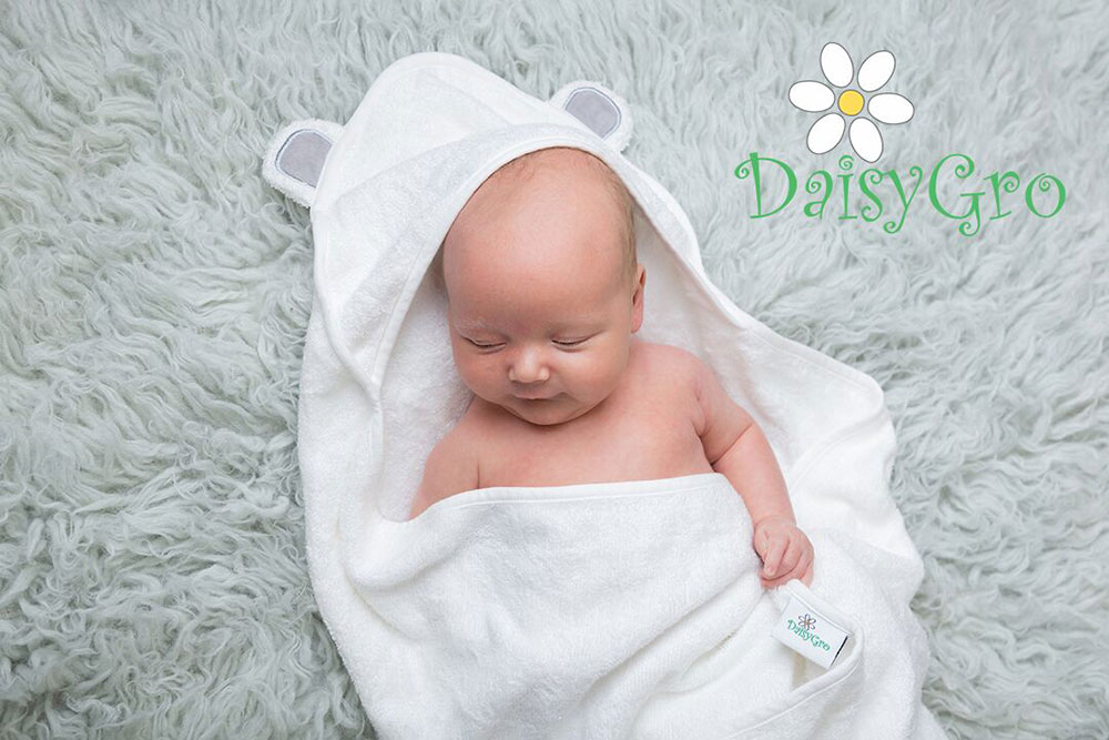 DaisyGro Hooded Baby Towel for newborns