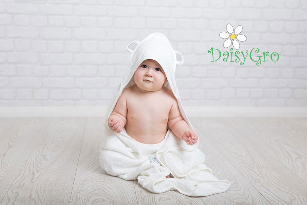 DaisyGro Cute Eared Animal soft bamboo baby towel
