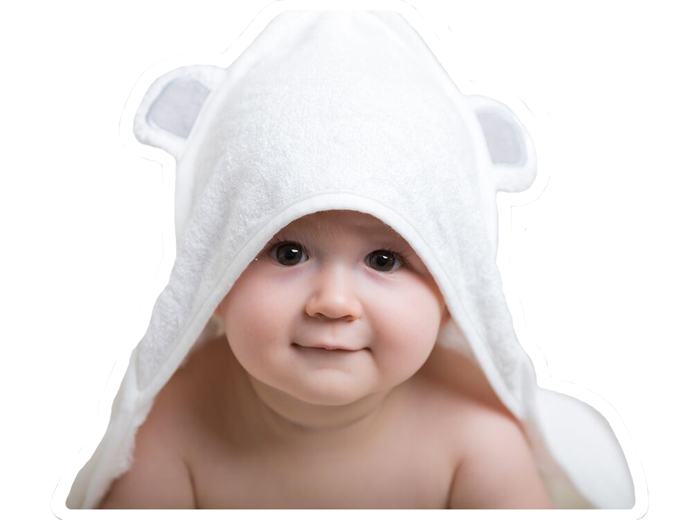 DaisyGro Bamboo Hooded Animal Towel